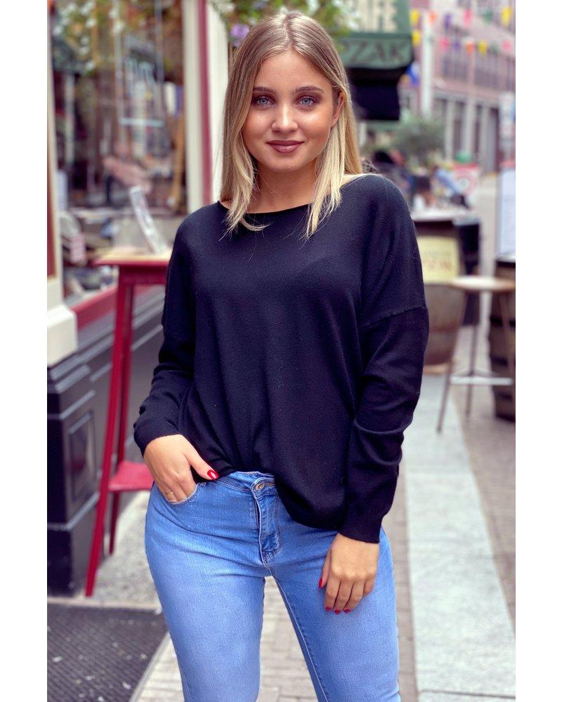 Comfy Basic Sweater - Black