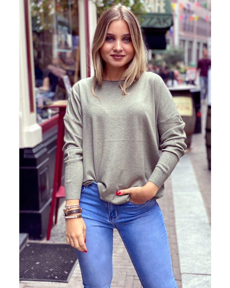 Comfy Basic Sweater - Armygreen