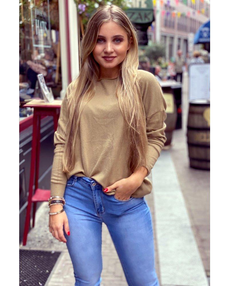 Comfy Basic Sweater - Camel