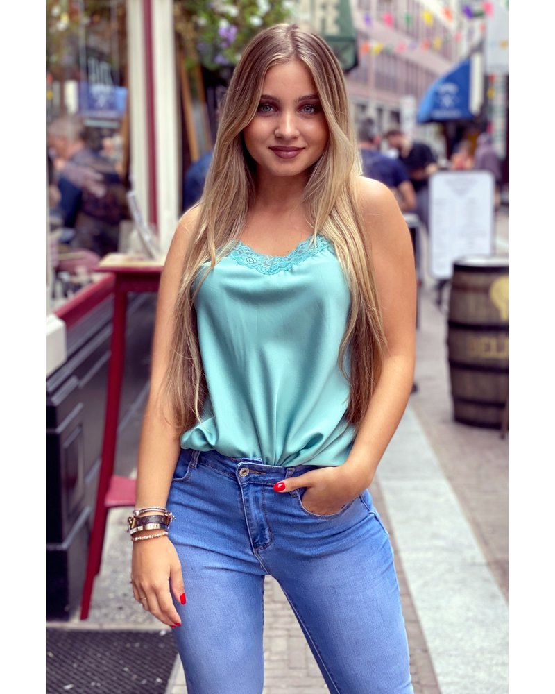 Lace Top - Turquoise