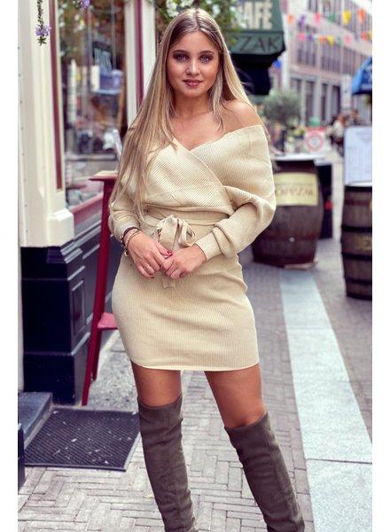 Perfect V Dress - Beige