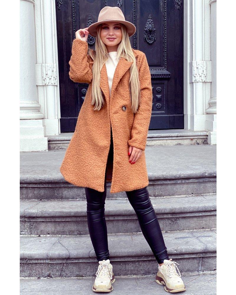 Kylie Teddy Coat - Camel