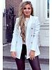 Stylish Blazer - White/Gold