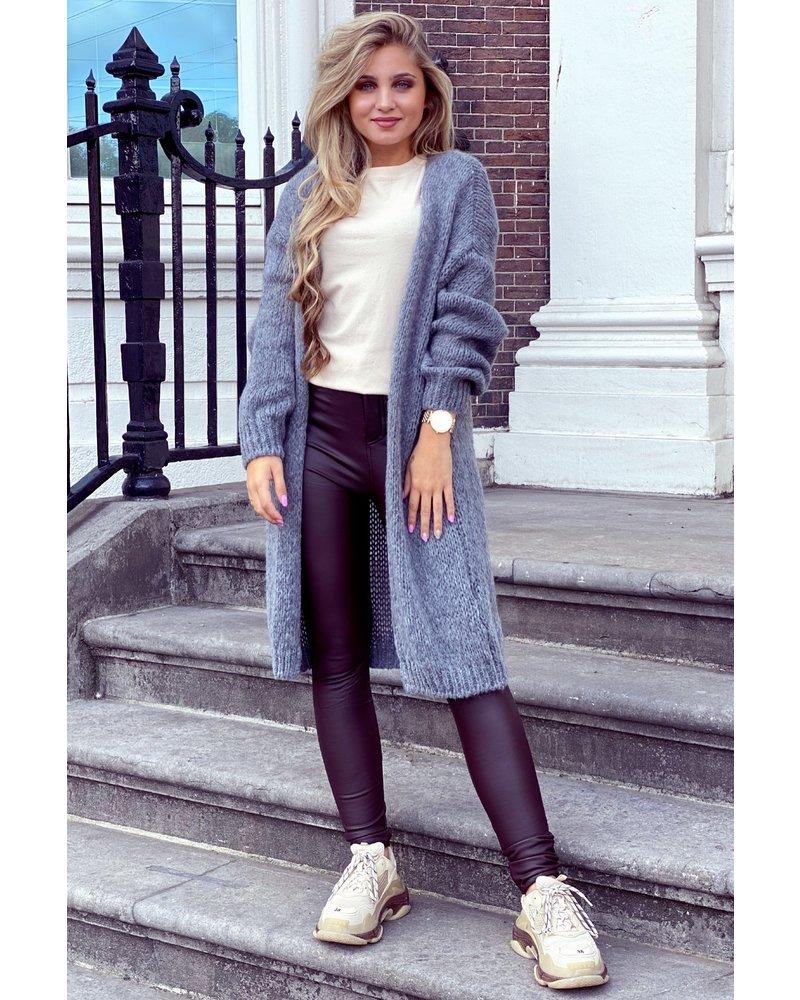 Comfy Knitted Vest - Grey