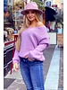 Cozy Knitted Sweater - Lilac