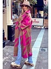 Nikki Coat - Fuchsia/Camel