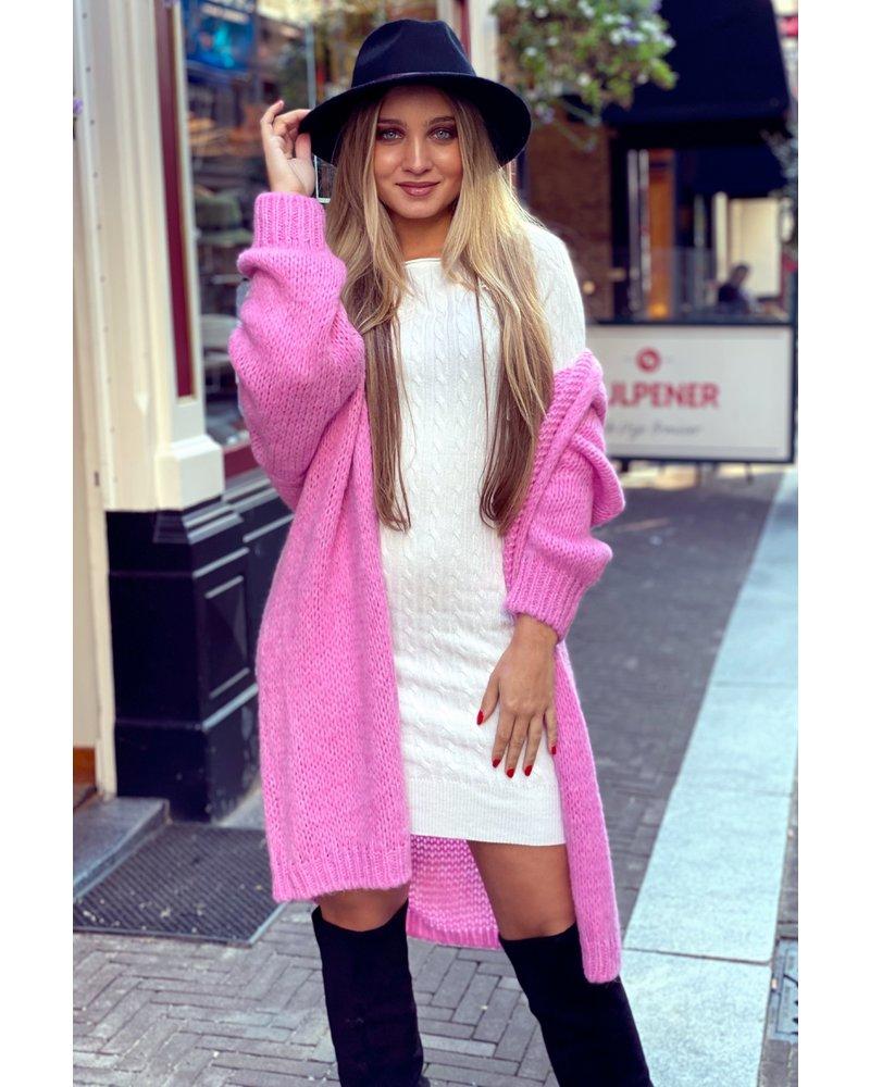 Comfy Knitted Vest - Pink