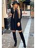Ribbed Sweater Dress - Black