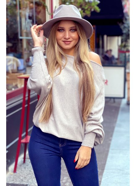 Basic Butterfly Sweater - Light Taupe