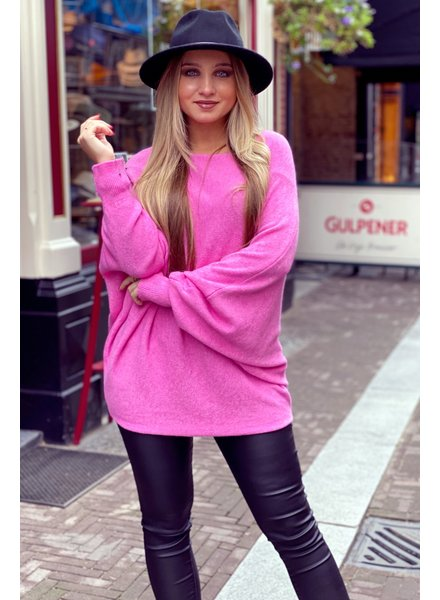 Oversized Butterfly Sweater - Pink