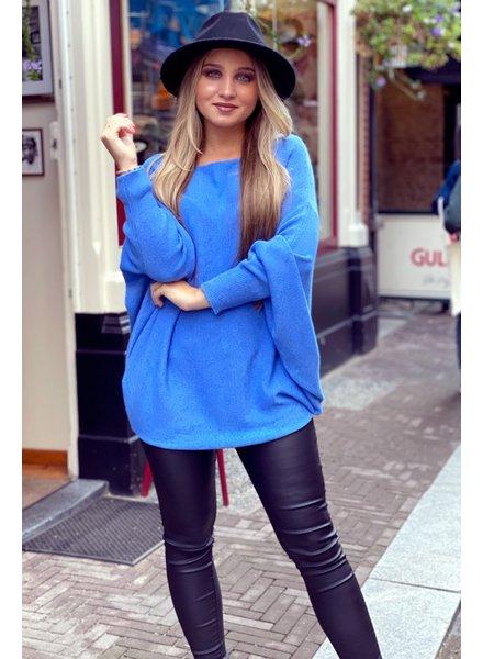 Oversized Butterfly Sweater - Blue