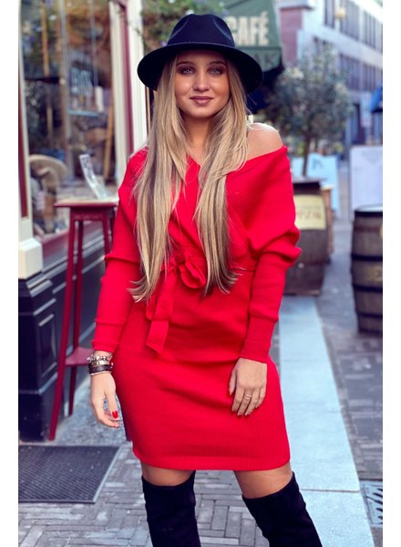 Perfect V Dress - Red