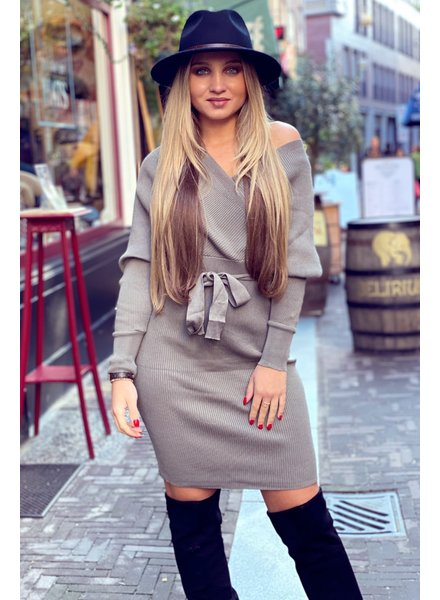 Perfect V Dress - Taupe