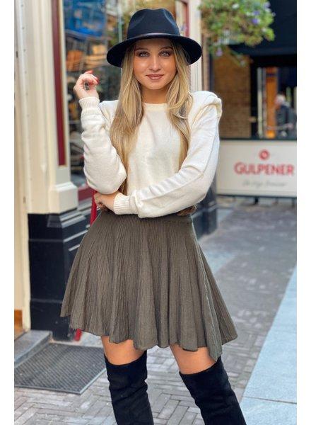 Plissé Skirt - Armygreen