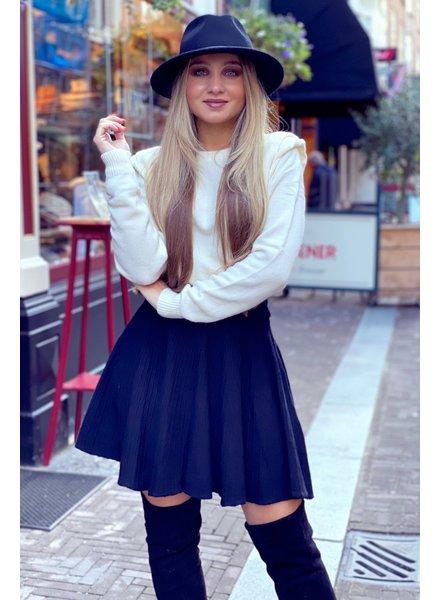 Plissé Skirt - Black
