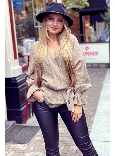 Chloe Blouse - Camel