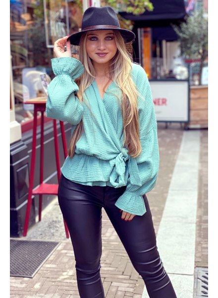 Chloe Blouse - Seagreen