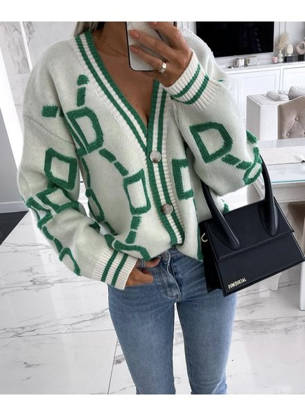 Musthave Vest - White/Green
