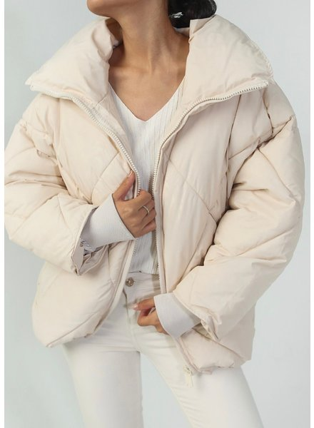 Musthave Puffer Coat - Beige