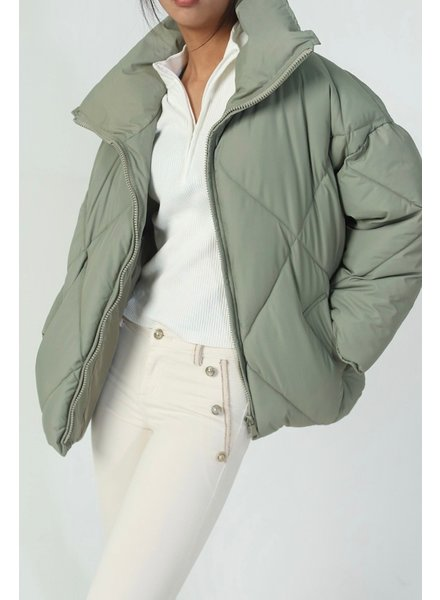 Musthave Puffer Coat - Army Green