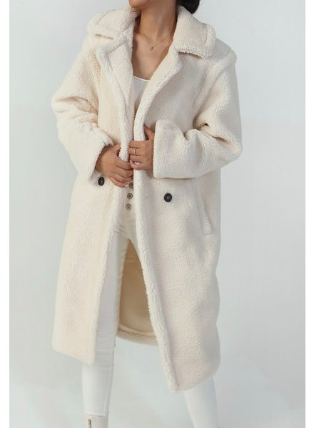 Musthave Teddy Coat - Off White