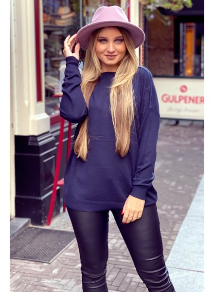 Comfy Basic Sweater - Navy