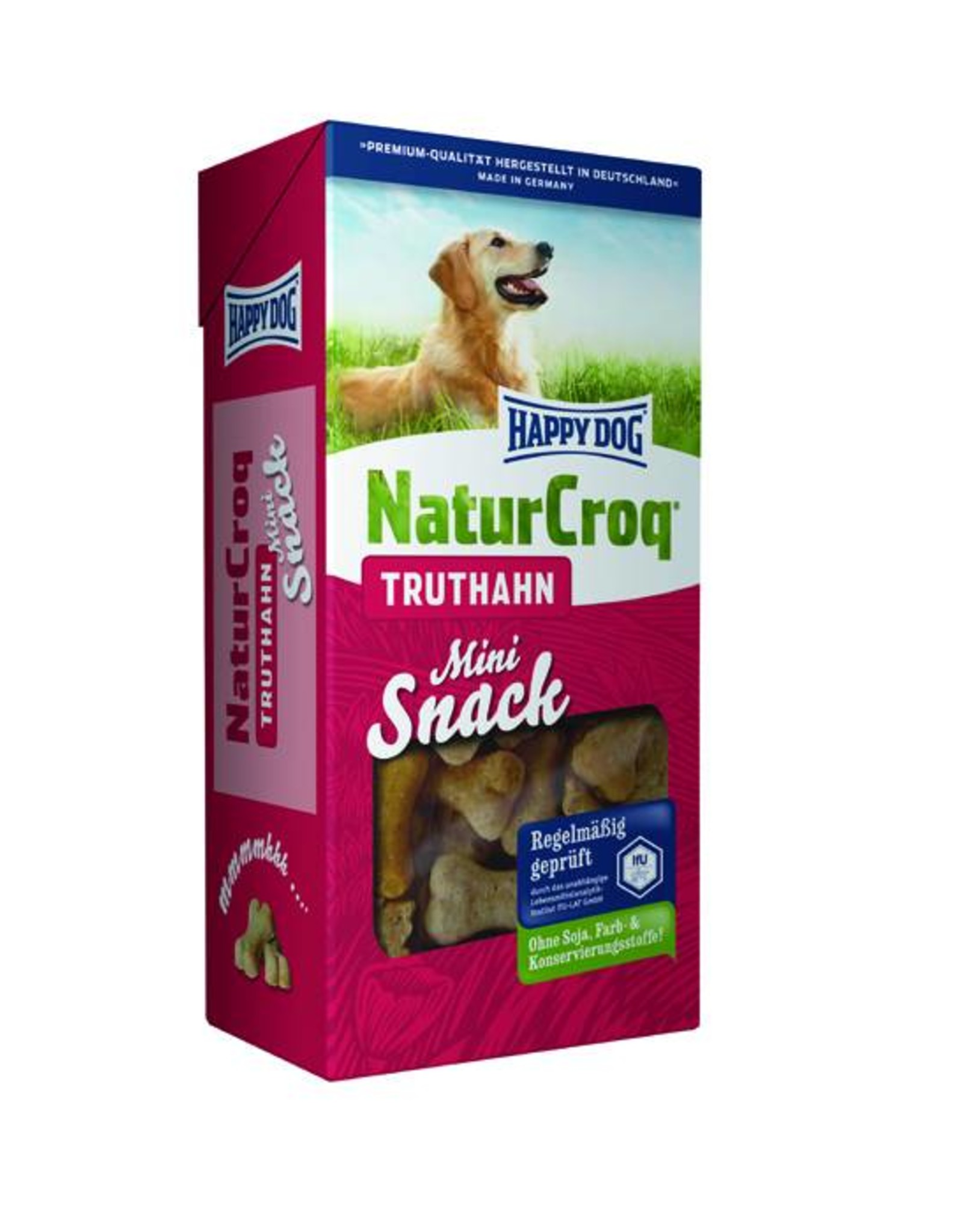 Happy Dog NaturCroq Snack Mini Kalkoen