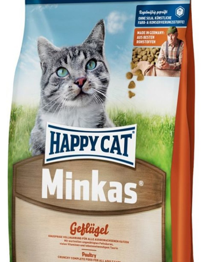 Happy Cat Minkas Gevogelte 10 kg / 4 kg