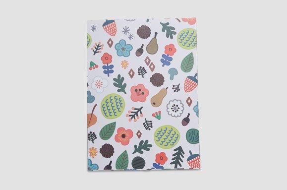 "&cabinet Geschenkumschlag-Set ""flower"" - 5 Stück"