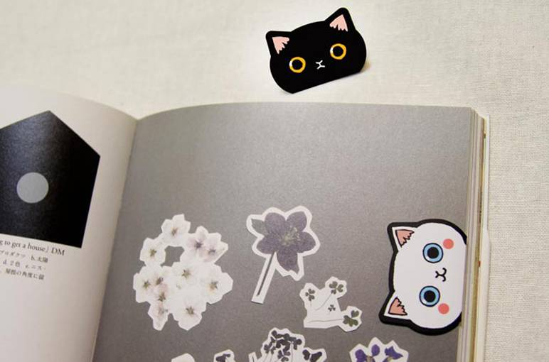 """&cabinet Magnetisches Lesezeichen """"Katze"""" - 2er Set"""