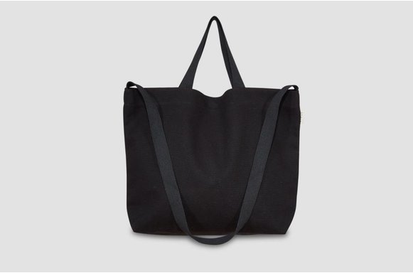 "Große  Canvas Bag ""black"""