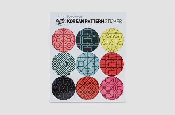 Sticker mit koreanischem Muster
