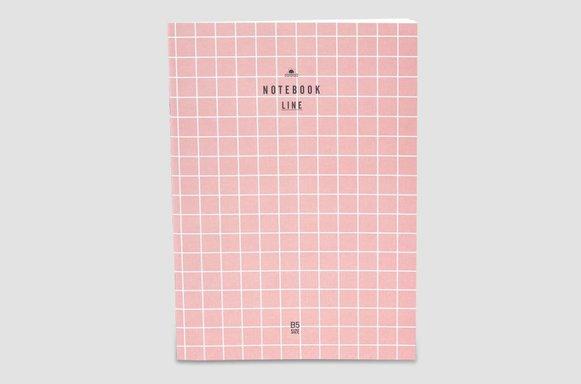 """Notizheft """"Pink Grid"""""""