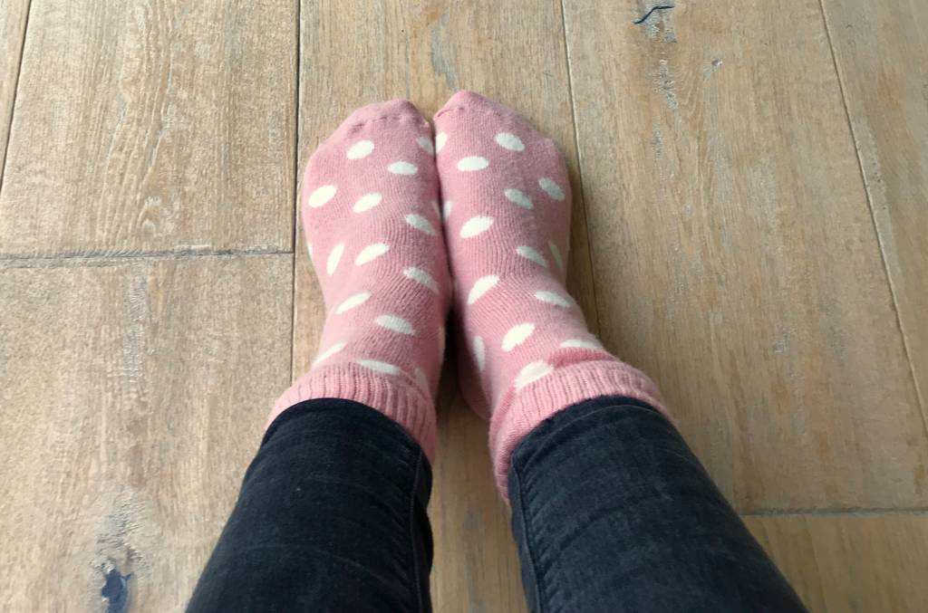"Soft-Touch Winterwollsocken ""pink-gepunktet"""