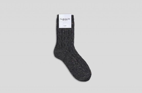 "Winterwollsocken ""anthrazit-meliert"""