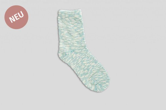 "Wintersocken Mélange ""mint"""
