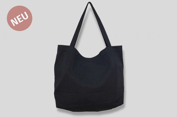 "Giant Canvas Bag ""black"""