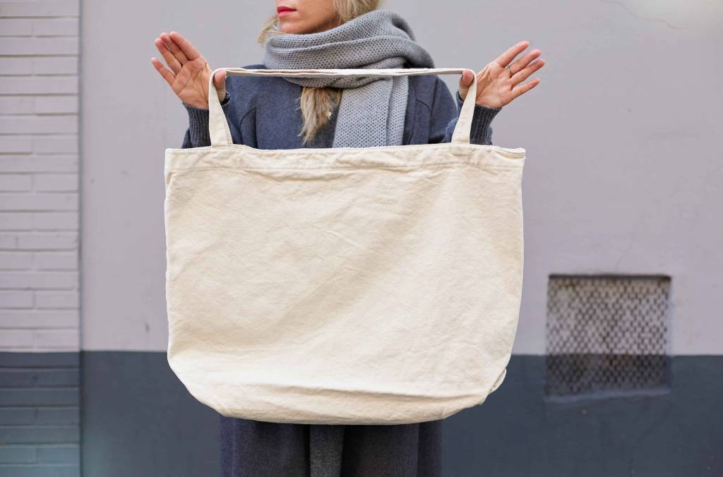 "Giant Canvas Bag ""ivory"""