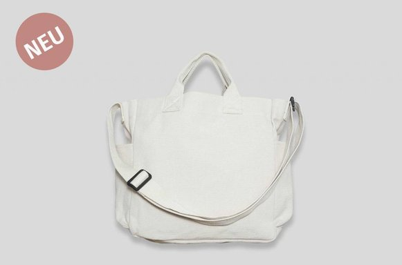 "Tumbler Canvas Bag ""ivory"""