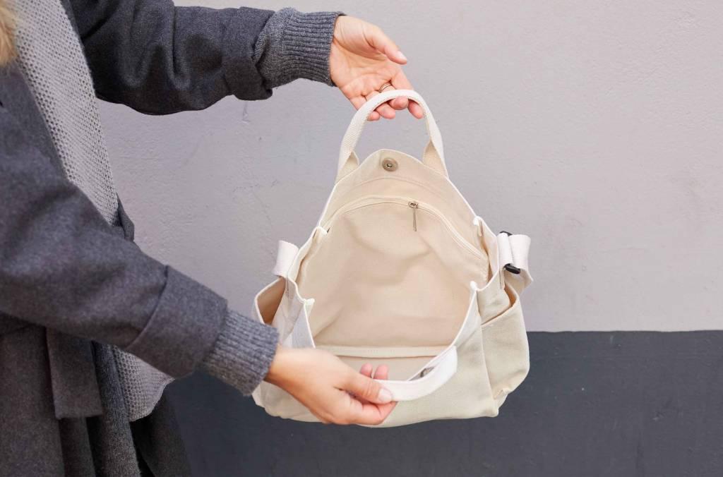 "Tumbler Canvas Bag ""ivory"""