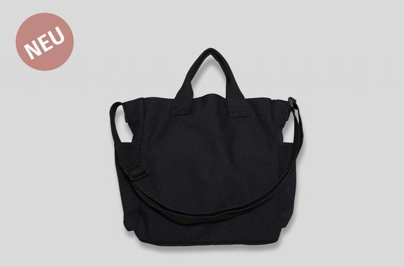 "Tumbler Canvas Bag ""black"""