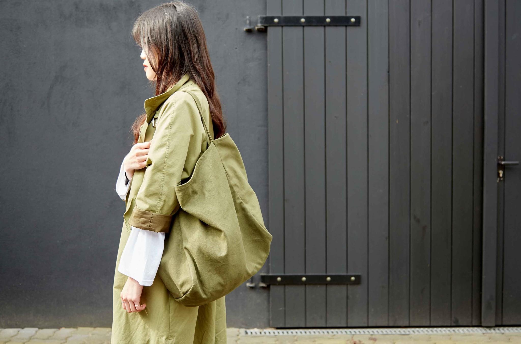"""Canvas Shopper Bag """"Olive"""""""