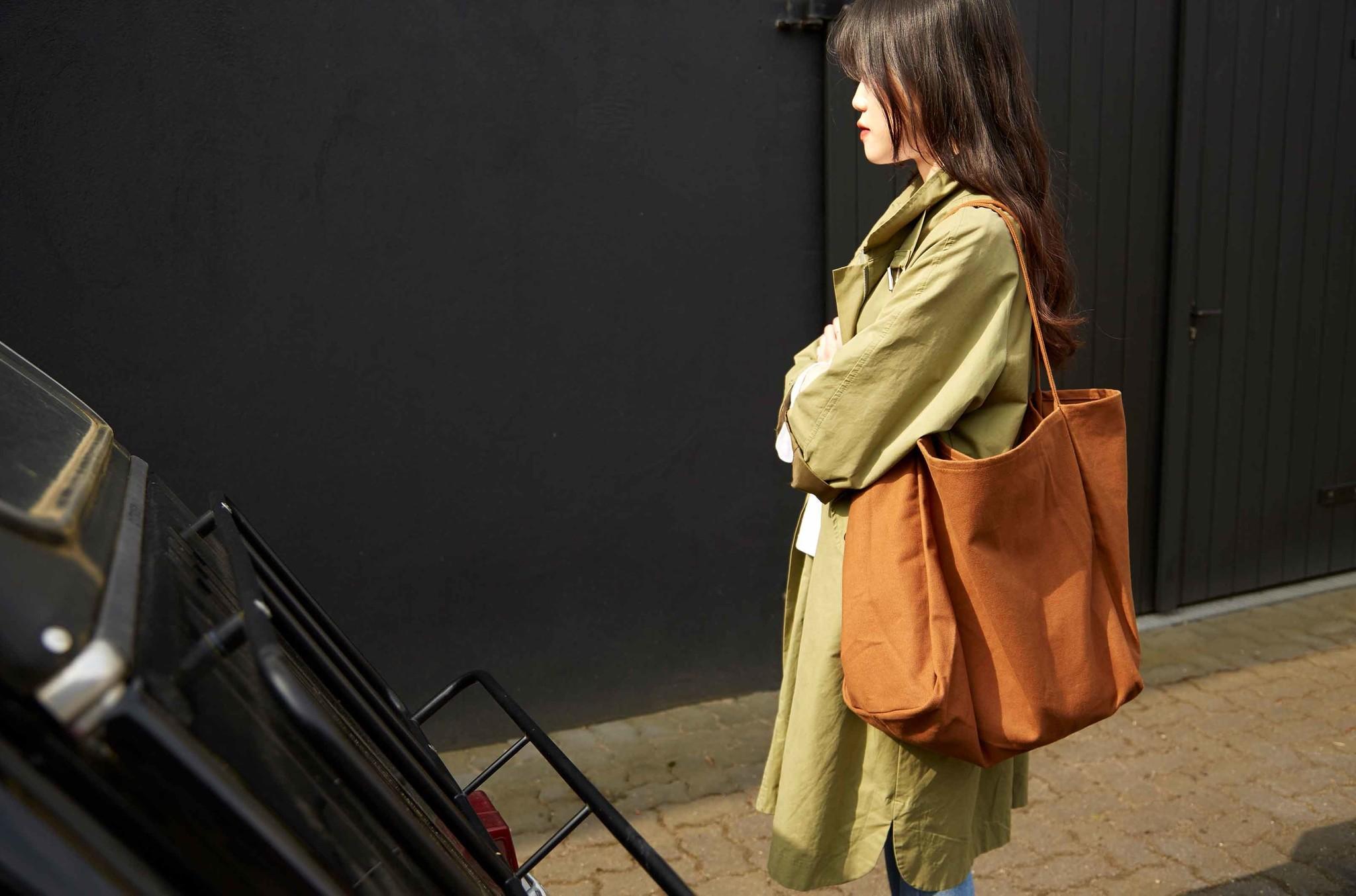 "Canvas Shopper Bag ""Hazelnut"""