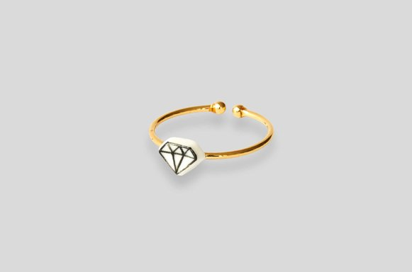 Keramik Diamant Ring