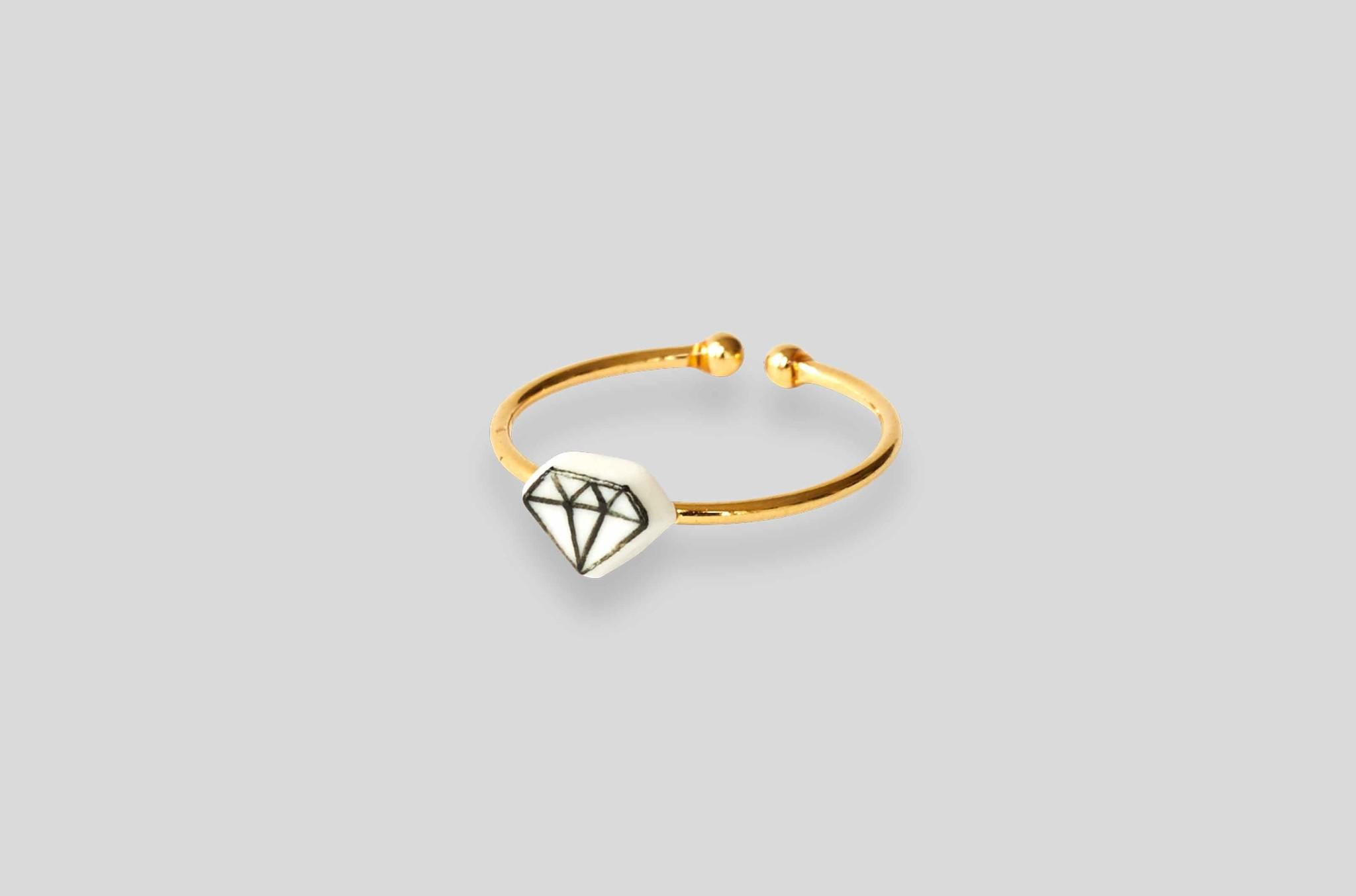 Keramik Diamant Ring