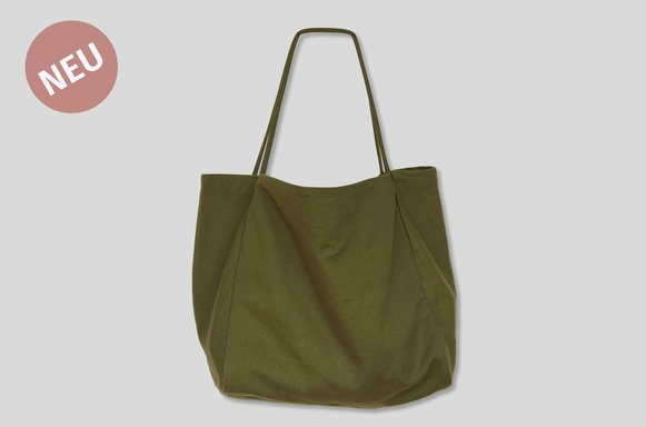 "Canvas Shopper Bag ""Olive"""