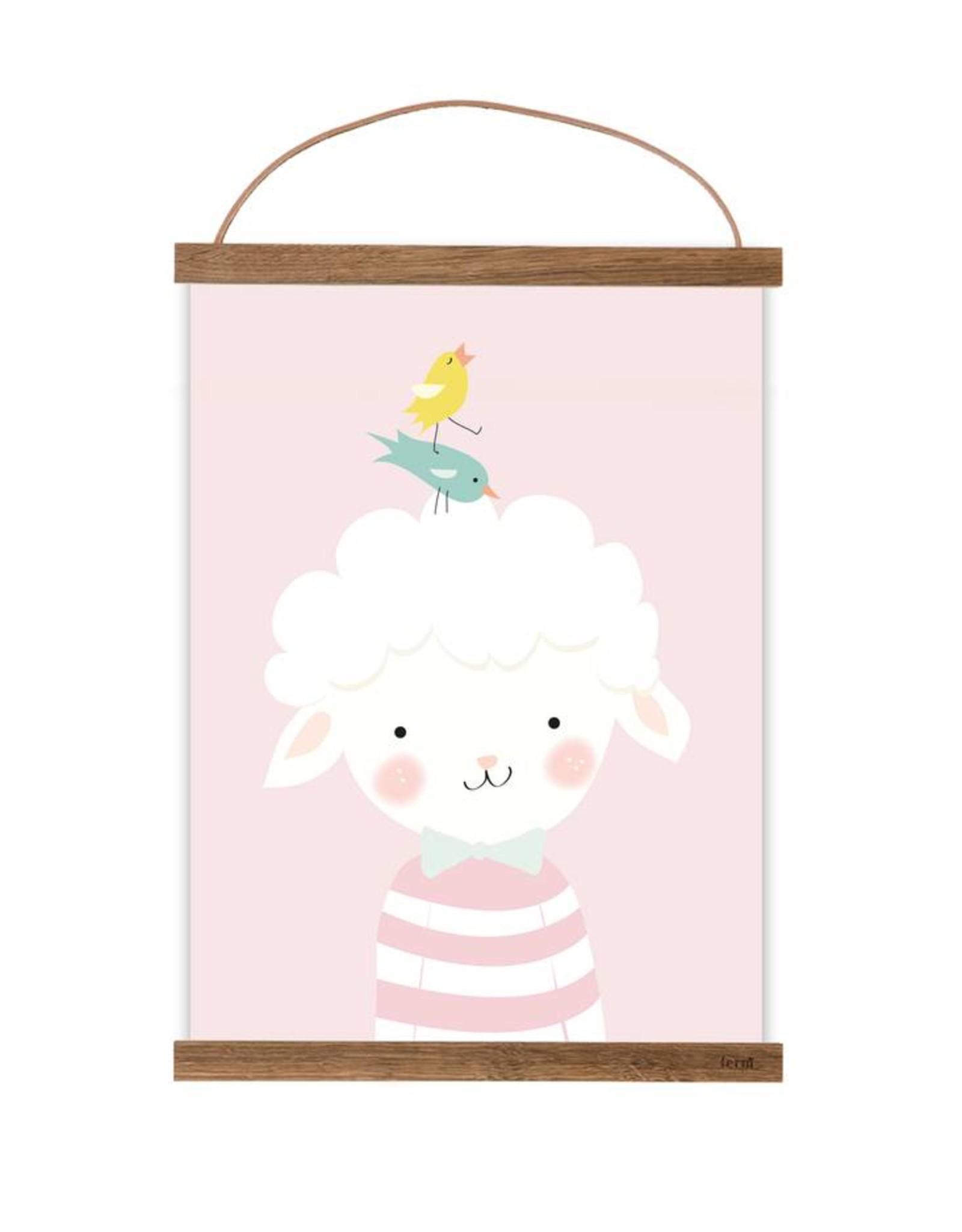 Poster für's Kinderzimmer-Kleines Lämmchen