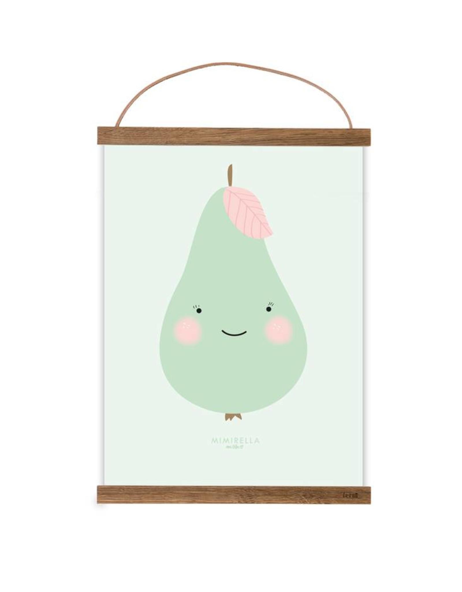 Poster für's Kinderzimmer-Kleine Birne