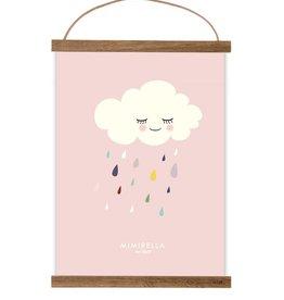 Poster Wolke rosa