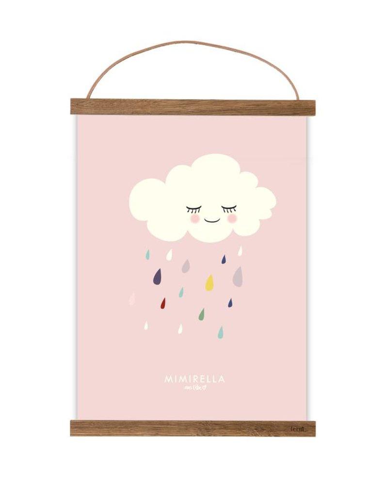 Poster für's Kinderzimmer - Wolke rosa